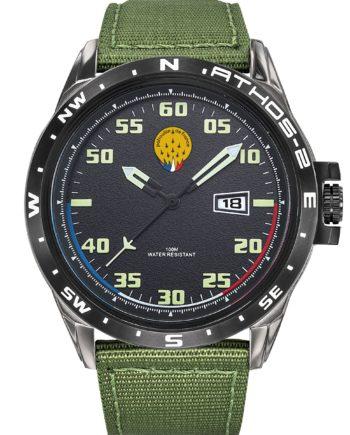 Montre Patrouille de France Acier Homme Bracelet Kaki Athos2 A2-100ID-668052