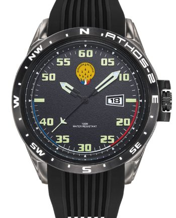 Montre Patrouille de France Acier Homme Silicone Noir Athos2 A2-100ID-668053