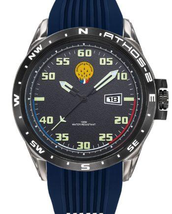 Montre Patrouille de France Acier Homme Silicone Bleu Athos2 A2-100ID-668055