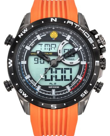 Montre PAF Athos 1 A1-100L-668040 bracelet orange