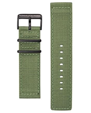 Bracelet tissé vert kaki