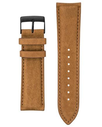 Bracelet en cuir marron vieilli