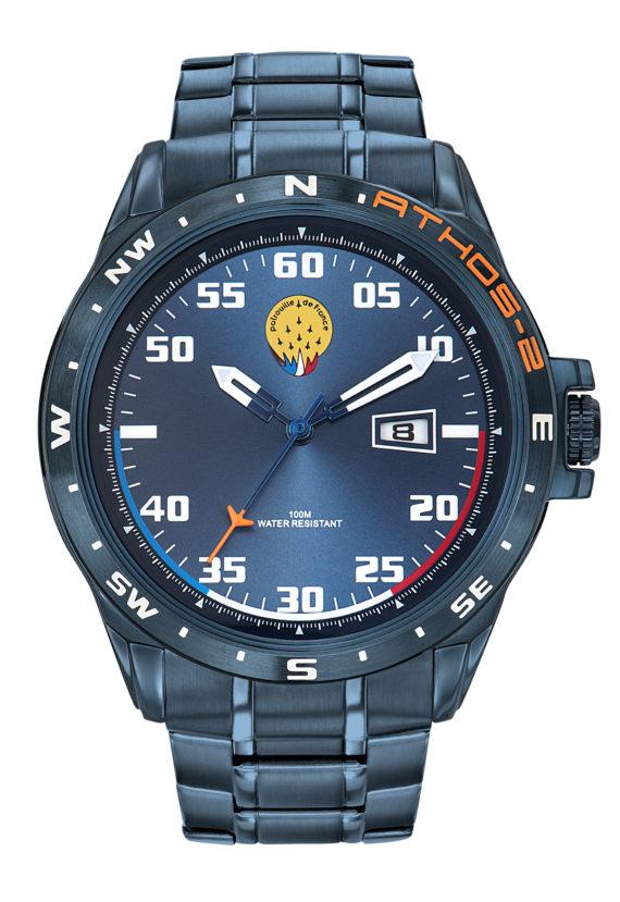 Montre Patrouille de France Acier Homme Bleu Athos2 A2-100ID-668057