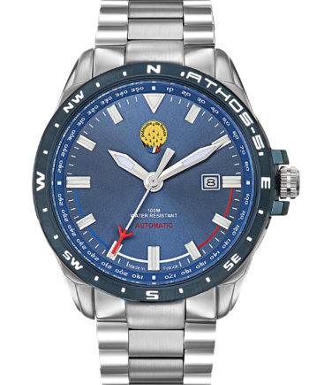 Montre Patrouille de France Automatique Acier Homme Bleu Athos5 A5-100PRS-668076
